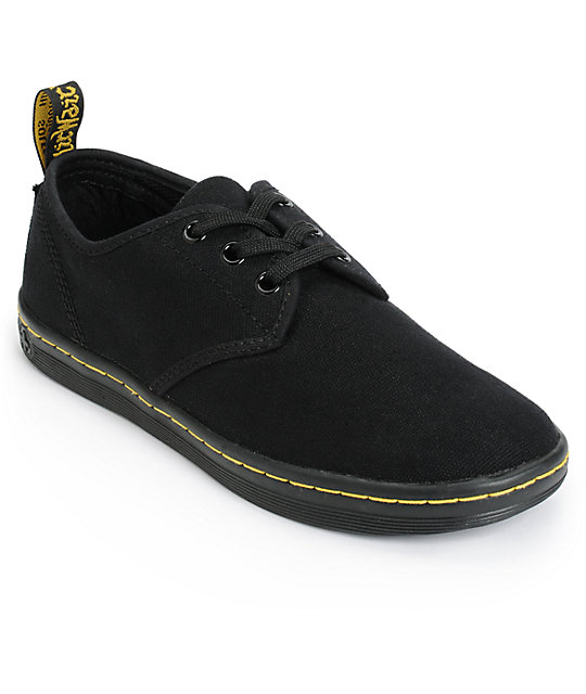 dr martens soho black canvas shoes