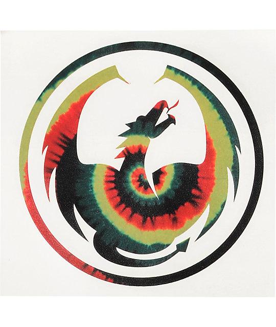 Dragon 6 Die Cut Rasta Sticker