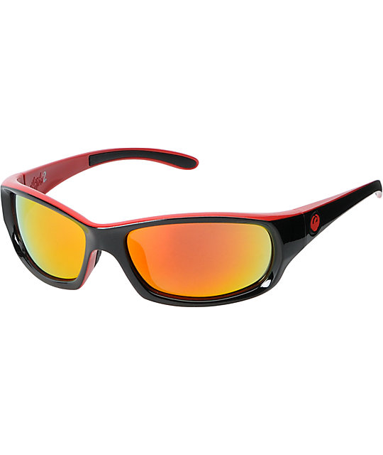 Dragon Chrome 2 Jet Black & Red Ion Sunglasses