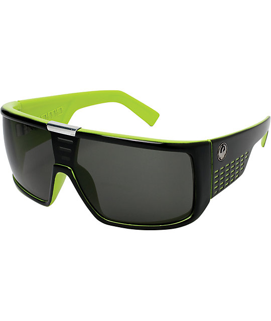 Dragon Domo Jet Green Sunglasses