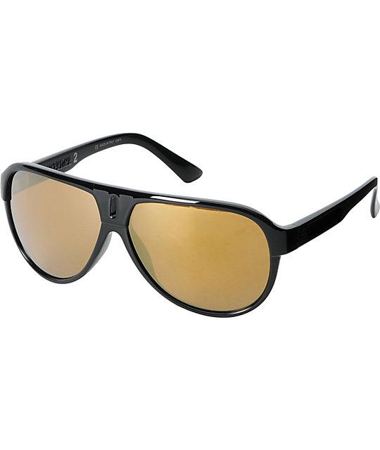 Dragon Experience 2 Black & Gold Ion Sunglasses