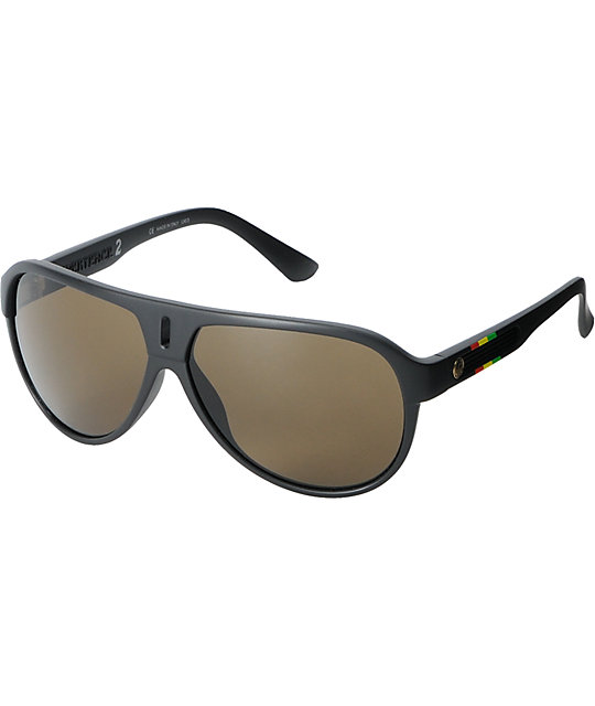 Dragon Experience 2 Matte Black & Rasta Sunglasses