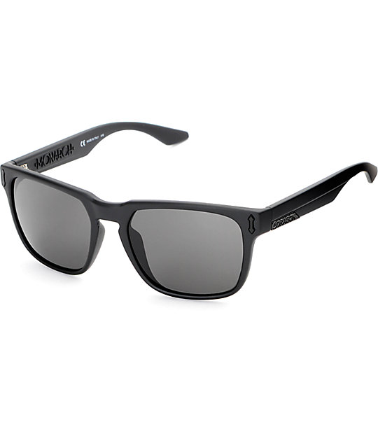 Dragon Monarch Matte Black & Grey Sunglasses
