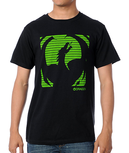 Dragon Screen Black T-Shirt