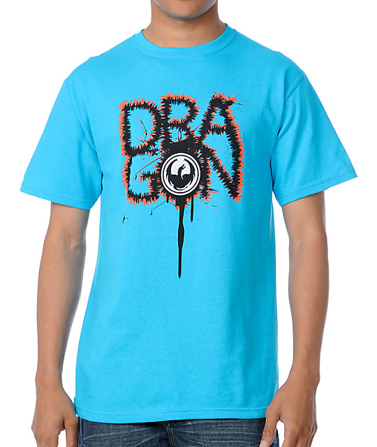 Dragon Scribble Turquoise T-Shirt