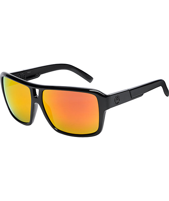 Dragon The Jam Jet Black & Red Ionized Sunglasses