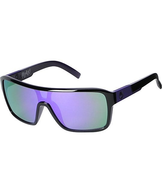 Dragon The Jam Remix Jet Purple & Black Sunglasses