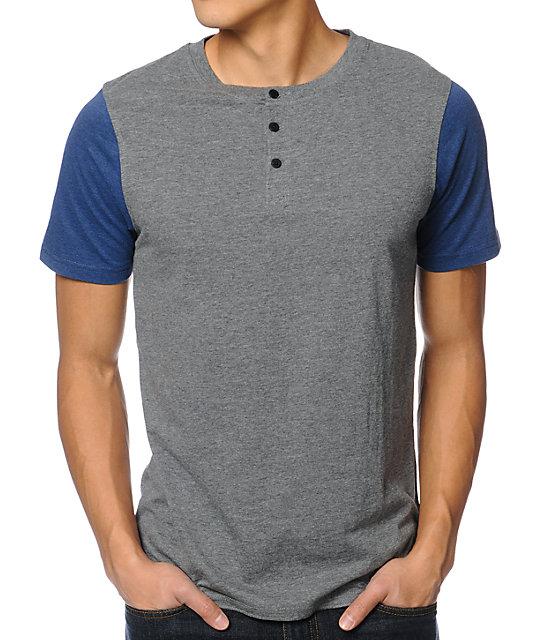 Dravus Ball Park Grey Henley T-Shirt