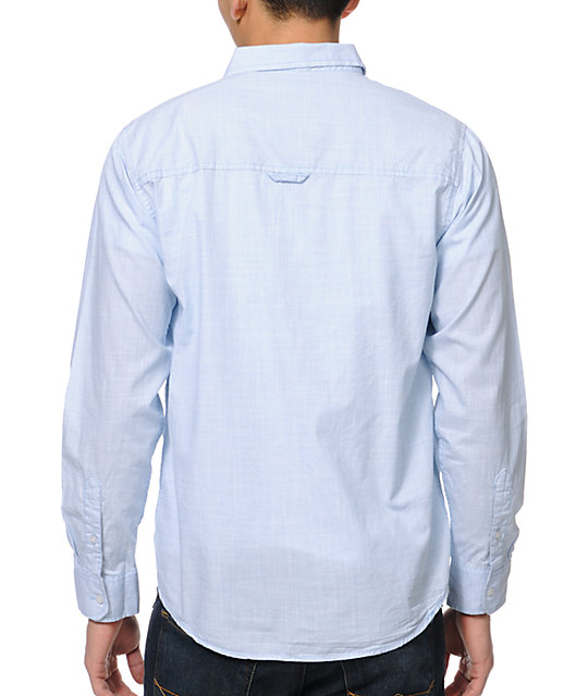 Dravus Beatsantique Light Blue Long Sleeve Woven Shirt