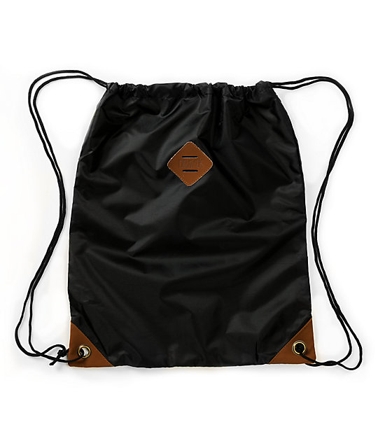 Dravus Black Drawstring Bag