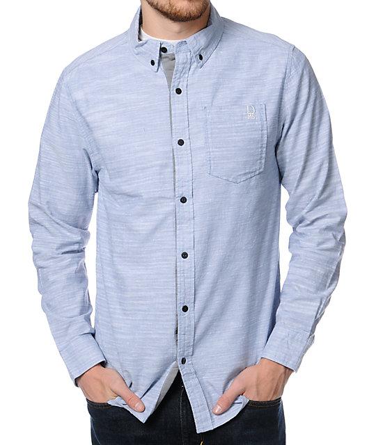 Dravus Brogan Blue Chambray Long Sleeve Button Up Shirt