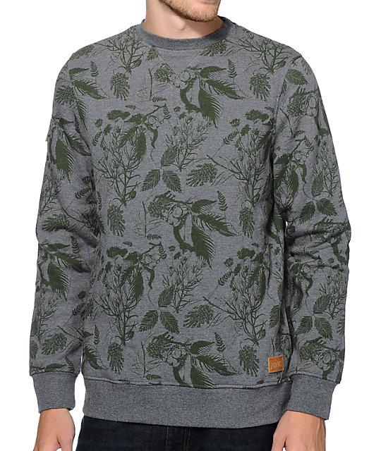Dravus Castro Green Botanical Crew Neck Sweatshirt