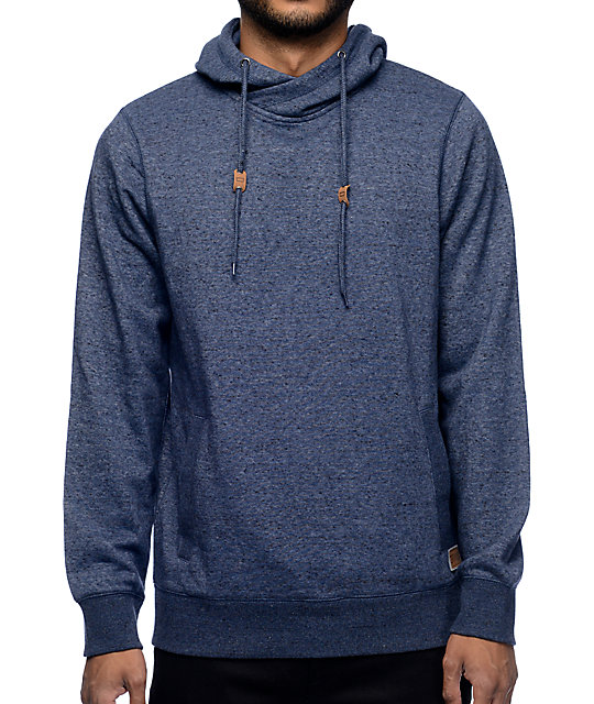 Dravus Charmer Navy Cross Collar Hoodie at Zumiez : PDP