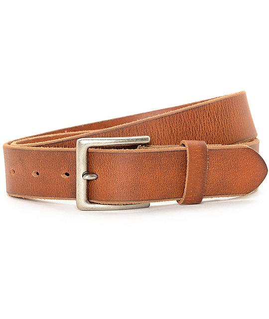 Dravus Cognac Full Grain Leather Belt