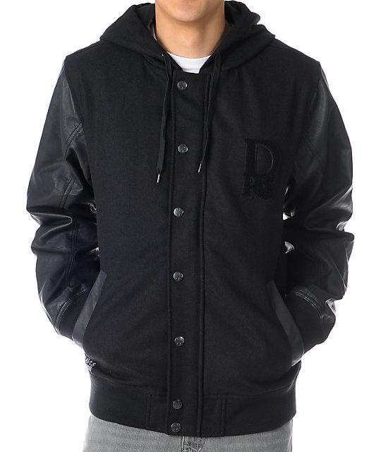 Dravus Detention Black Varsity Jacket