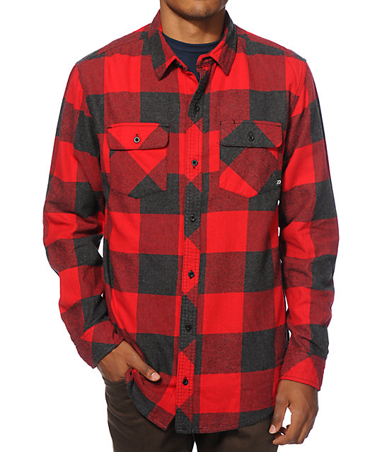 Dravus Dosewallips Buffalo Plaid Flannel Shirt Zumiez