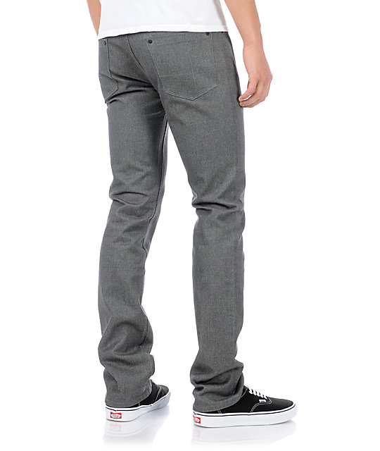 Dravus Driver Heather Charcoal Skinny Jeans