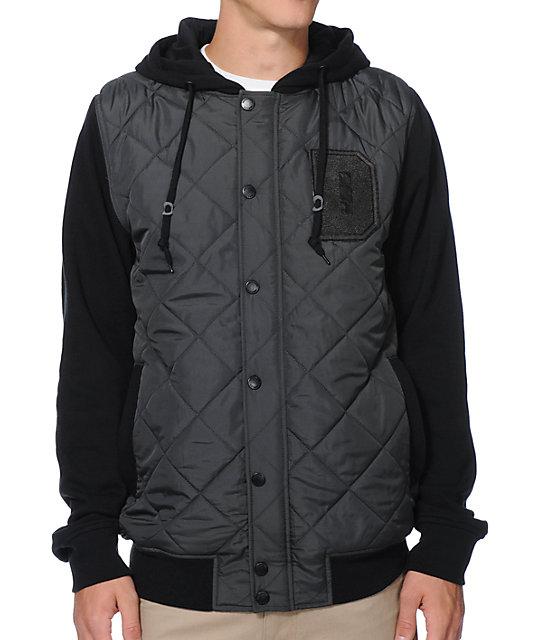 Dravus Durden Black & Grey Varsity Vest Hoodie