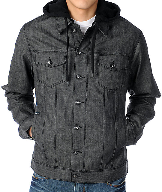 Dravus Evolution Mens Grey Hooded Jean Jacket at Zumiez : PDP