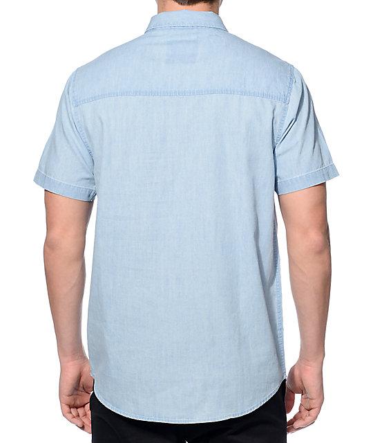 dravus felix blue denim button up work shirt zumiez
