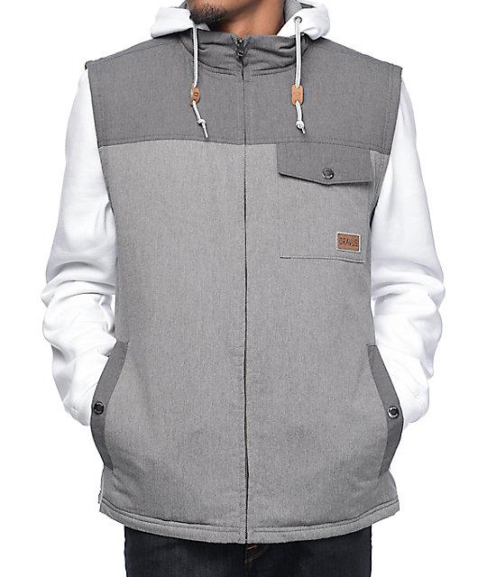 Dravus Future Charcoal & White Vest Hoodie