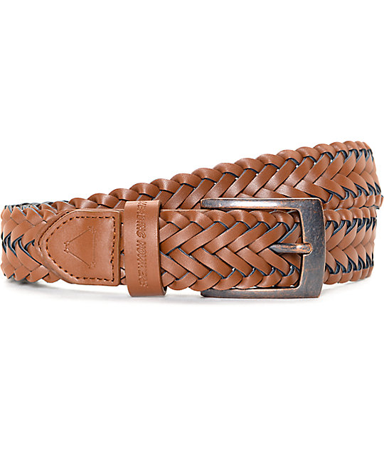 Dravus Grip Brown Leather Belt