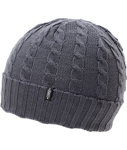 Dravus Kodey Charcoal Cable Knit Cuff Beanie