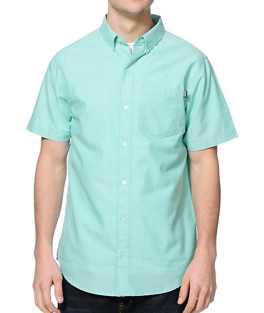 dravus lincoln mint button up shirt at zumiez pdp
