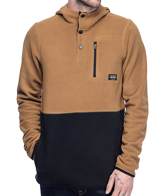 Dravus Logan Black & Khaki Pullover Tech Fleece