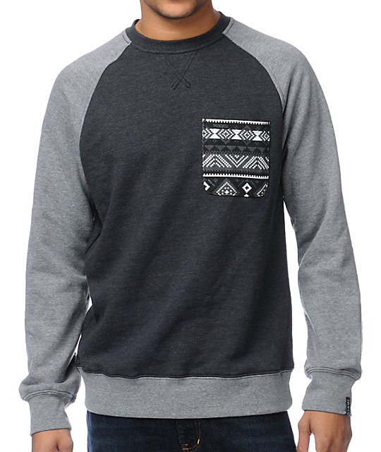 Dravus Loomis Pocket Crew Neck Sweatshirt