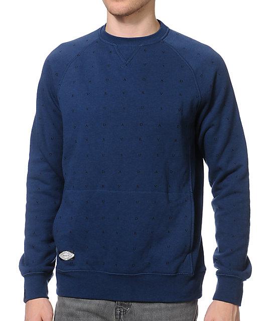 Dravus Mason Monogram Navy Crew Neck Sweatshirt
