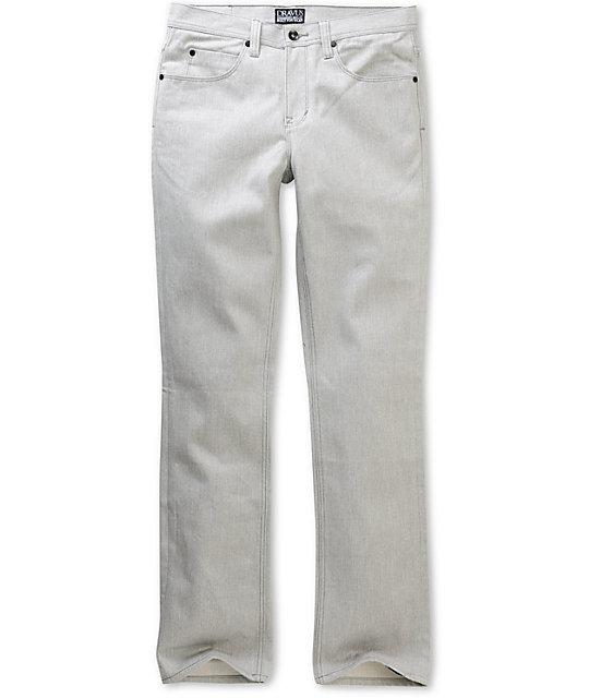 Dravus Narrows Heather Grey Twill Slim Jeans
