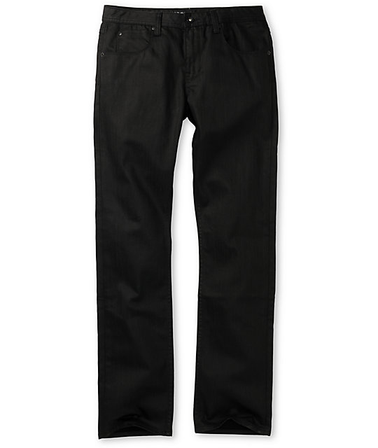 Dravus Narrows Waxed Black Slim Jeans