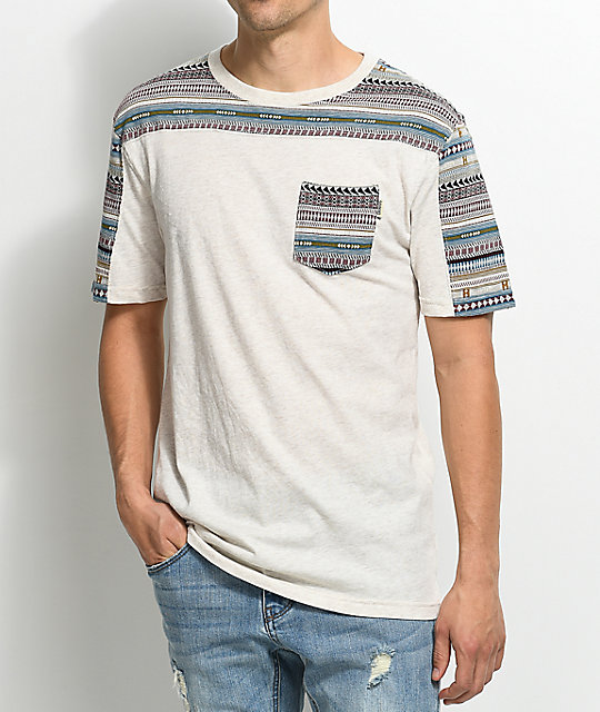 Dravus Packer Jacquard Knit Natural T-Shirt