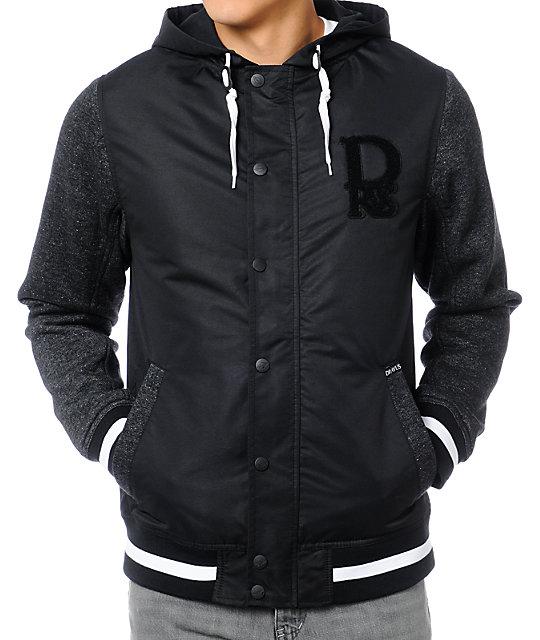 Dravus Pennant Black Varsity Jacket