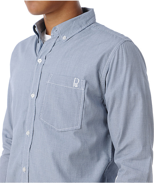 Dravus Pointdexter Grey Long Sleeve Woven Shirt