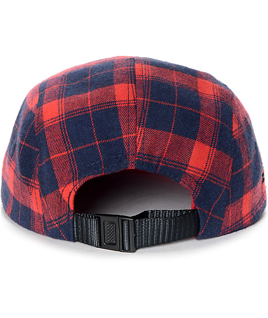 Dravus Radar Red Plaid 5 Panel Hat