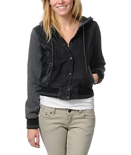 Dravus Rambler Black Jean Varsity Jacket
