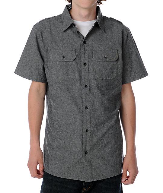 Dravus Rank Grey Chambray Woven Shirt