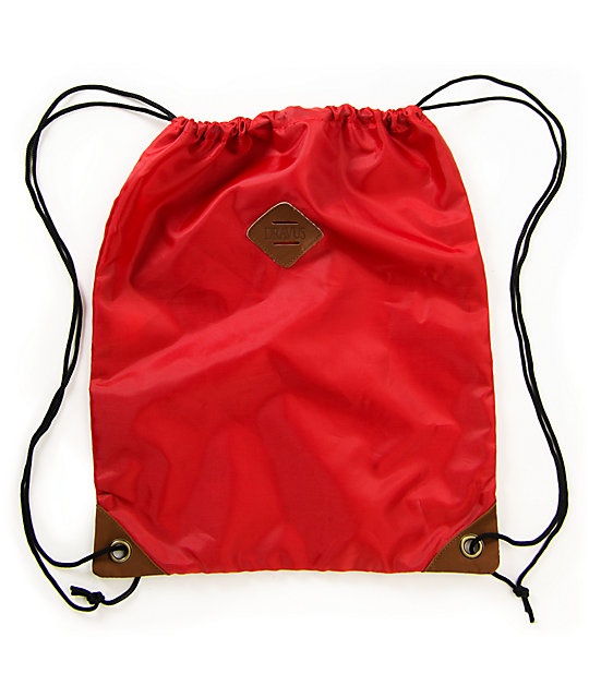 Dravus Red Drawstring Bag