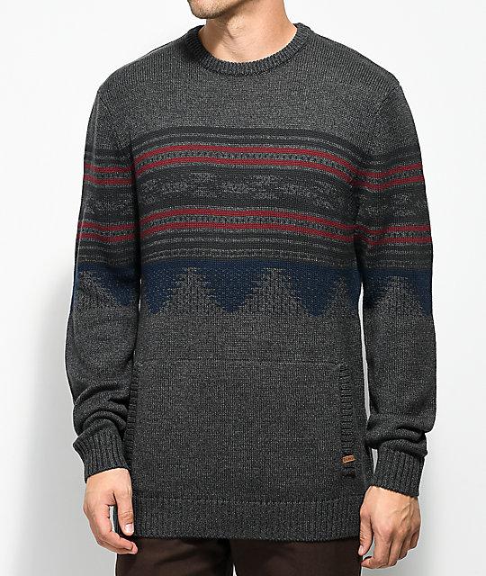 Dravus Redding Charcoal Crew Neck Sweater