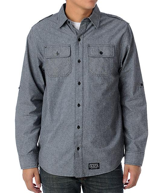 Dravus Renegade Grey Woven Shirt