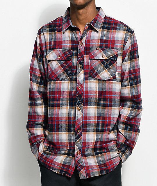 Dravus Richard Burgundy & Black Flannel Shirt | Zumiez
