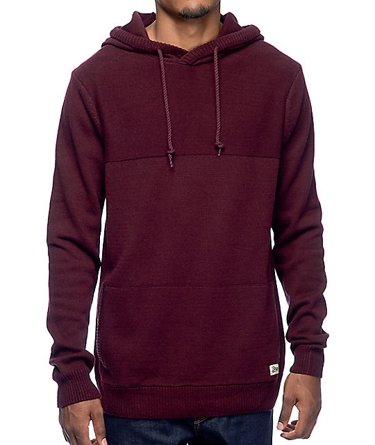 Dravus Roald Burgundy Hooded Sweater | Zumiez