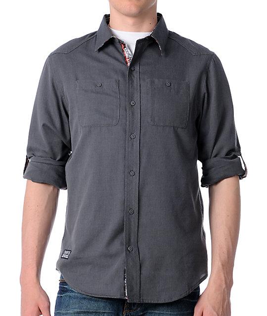 Dravus Runner Dark Grey Woven Shirt
