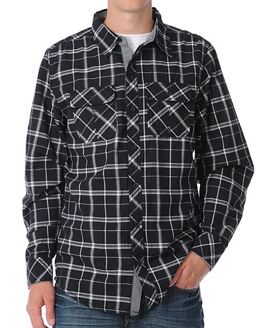 Dravus Rust Belt Black & Grey Woven Shirt