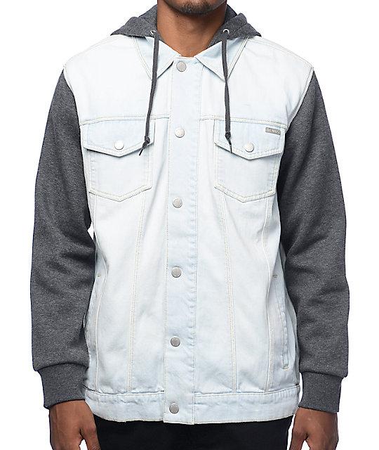 Dravus Sloaner chaqueta en denim de lavado claro y gris