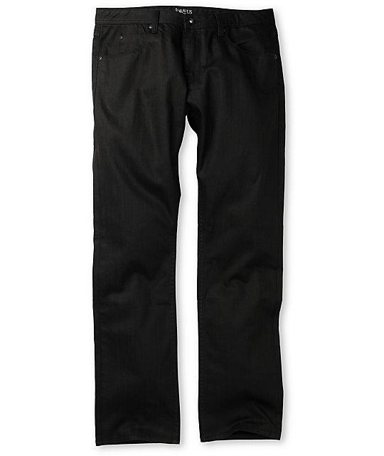 Dravus Standard Waxed Black Regular Fit Jeans