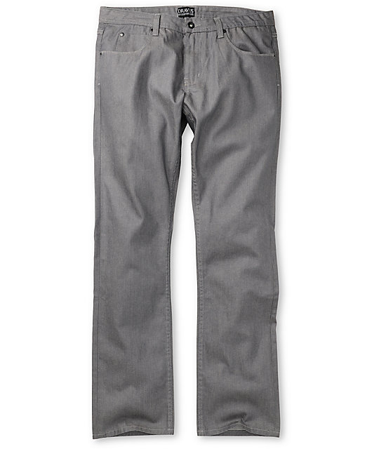 Dravus Standard Waxed Grey Regular Fit Jeans