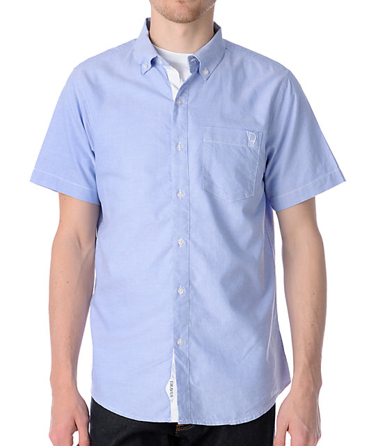 Dravus Stumble Inn Light Blue Short Sleeve Woven Shirt